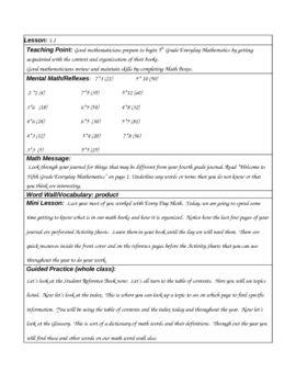 EVERYDAY MATH GRADE 5 - UNIT 1 LESSON PLANS - TeachersPayTeachers.com