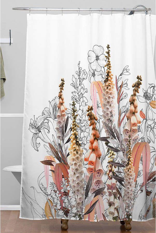 Deny Designs Iveta Abolina Lupines Cream Shower Curtain Reviews