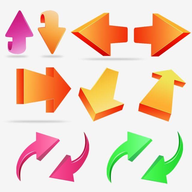 Set Of Colored Arrow Arrow Symbols Arrow Sign Symbols Png Transparent Clipart Image And Psd File For Free Download Font Illustration Symbols Arrow Symbol
