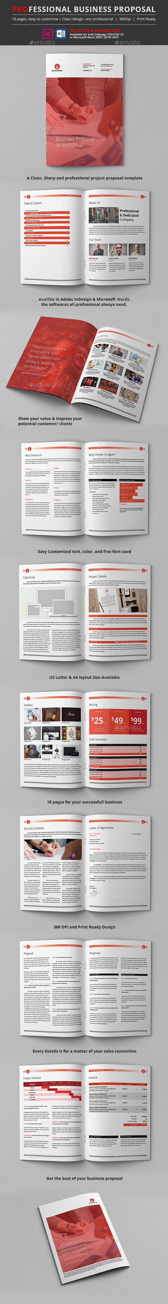 Professional Proposal Template InDesign INDD. Download here: https://graphicriver.net/item/professional-proposal-template/17501675?ref=ksioks