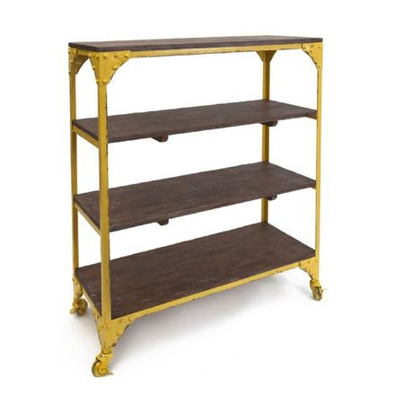 Industrial Iron Shelves - Yellow