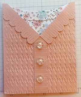I put this sweet cardigan sweater on the Mother's Day board, but it could easily be used for Valentine's Day, Birthday, or any other occasion.  As a DIY card it will be a fun project.