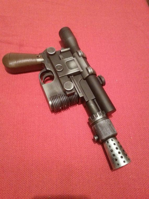 Star Wars   han solo DL 44 blaster movie prop replica 1.1 scale weathered and weighted