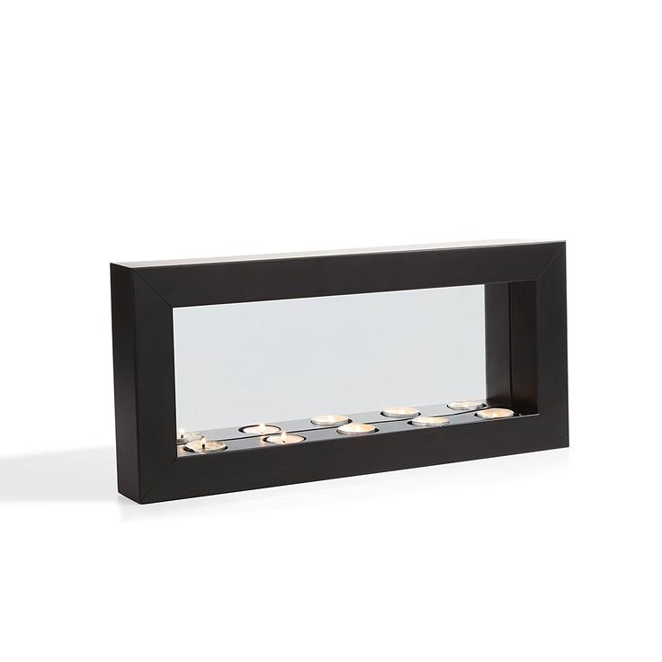 AmazonSmile: Danya B. Horizontal Mirror Tealight Candle Sconce with Metal Frame: Home & Kitchen