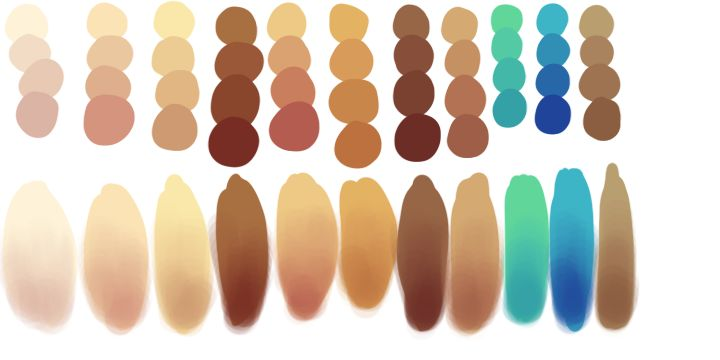 Skin Tones by TRICKof-theMIND