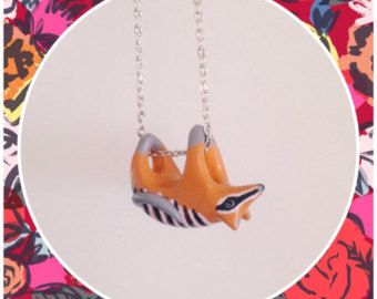 Numbat Necklace by marymaryhandmade on Etsy