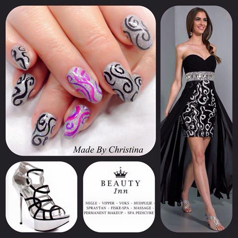 My nails for New Year 2014/2015 by Christina from Beauty Inn.dk