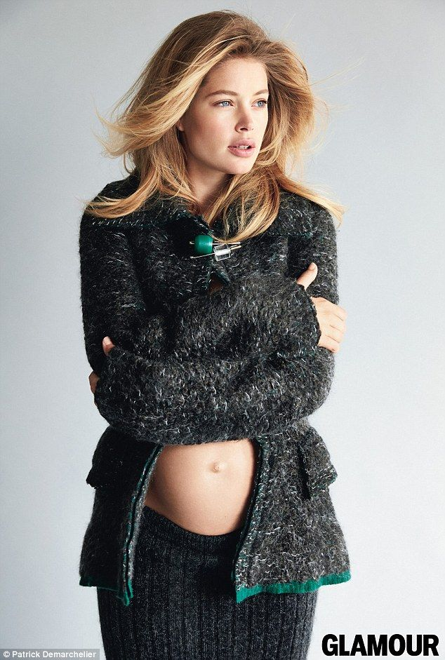 Keeping fit: Doutzen said she stayed trim during her pregnancy with ballet-inspired workou...by patrick demarchelier