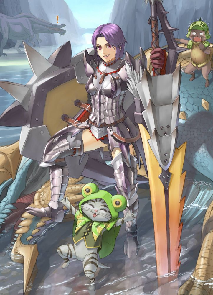 Jinouga. Felyne. Monster Hunter Portable 3rd. Silver Sol Armor. Deviljho. subliminal ignorance!!!!! #MonsterHunter