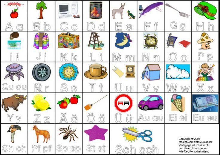 Anlauttabelle mit Buchstaben zum nachschreiben : learn.ing kids : Pinterest