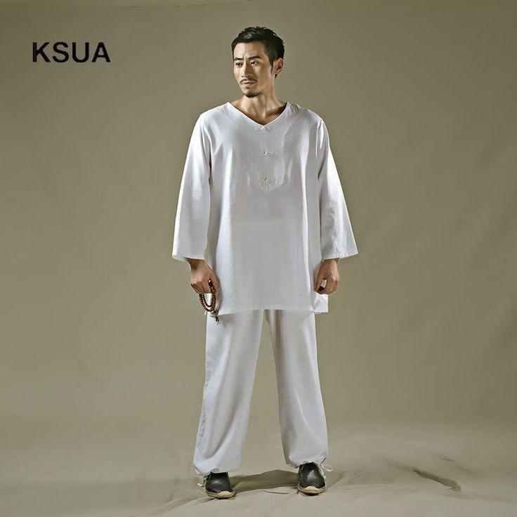 2017 Linen Yoga Shirt Pants Zen Meditation Clothing Man Sportswear Set Large Size Gym Yoga Suit Shirt Pants Tracksuit Yoga Set #yogaset