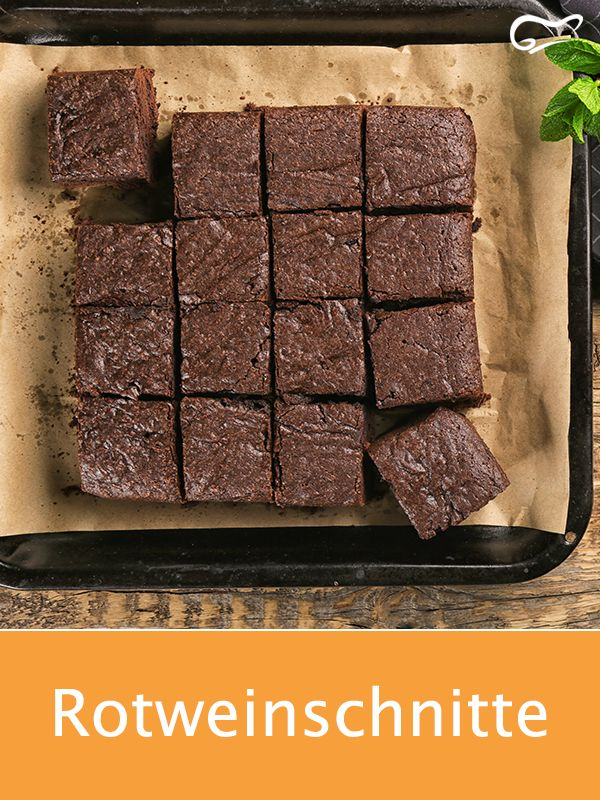 Mit diesem einfachen Rezept werden die köstlichen Rotweinstücke schnell zubereitet …   – Kuchen- und Backrezepte