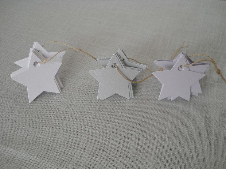 étiquettes étoile 5cm, cartonnées et perforées : Emballages cadeaux par bebecoton