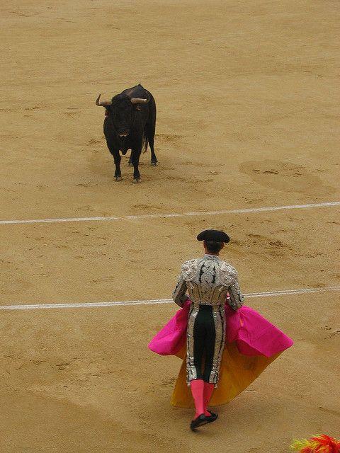 Bullfight at Plaza de Toros, Madrid  Spain