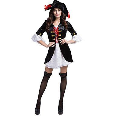 Cosplay Kostumer / Party-kostyme Oktoberfest / karriere Kostymer Festival/høytid Halloween Kostumer Blå Fargeblokk Skjørte / Hatter 5244509 2016 – kr.289