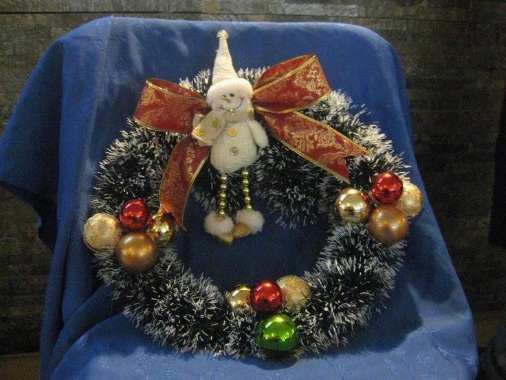 Corona navideña para Lorena