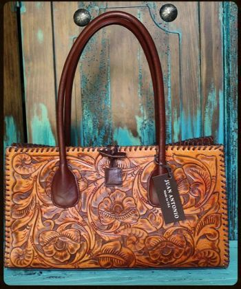"Handbags/Luggage :: JUAN ANTONIO TOOLED ""SADDLE"" BAGS - Native American Jewelry