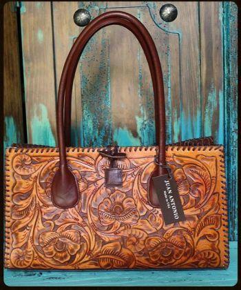 Small Juan Antonio Tooled Saddle Bag from Cowgirl Kim