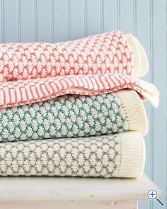 honeycomb stitch blanket