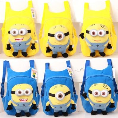 Despicable Me 3D Eyes Minion Plush Backpack for Children $15.48