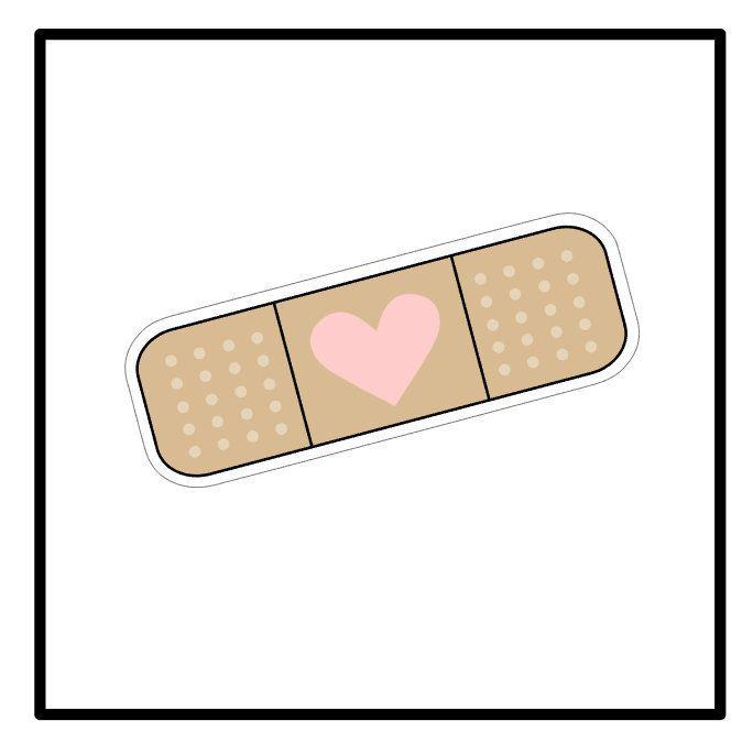 Band Aid Sticker Oops Laptop Sticker Planner Sticker Etsy Bandaid Sticker Cute Stickers Band Aid