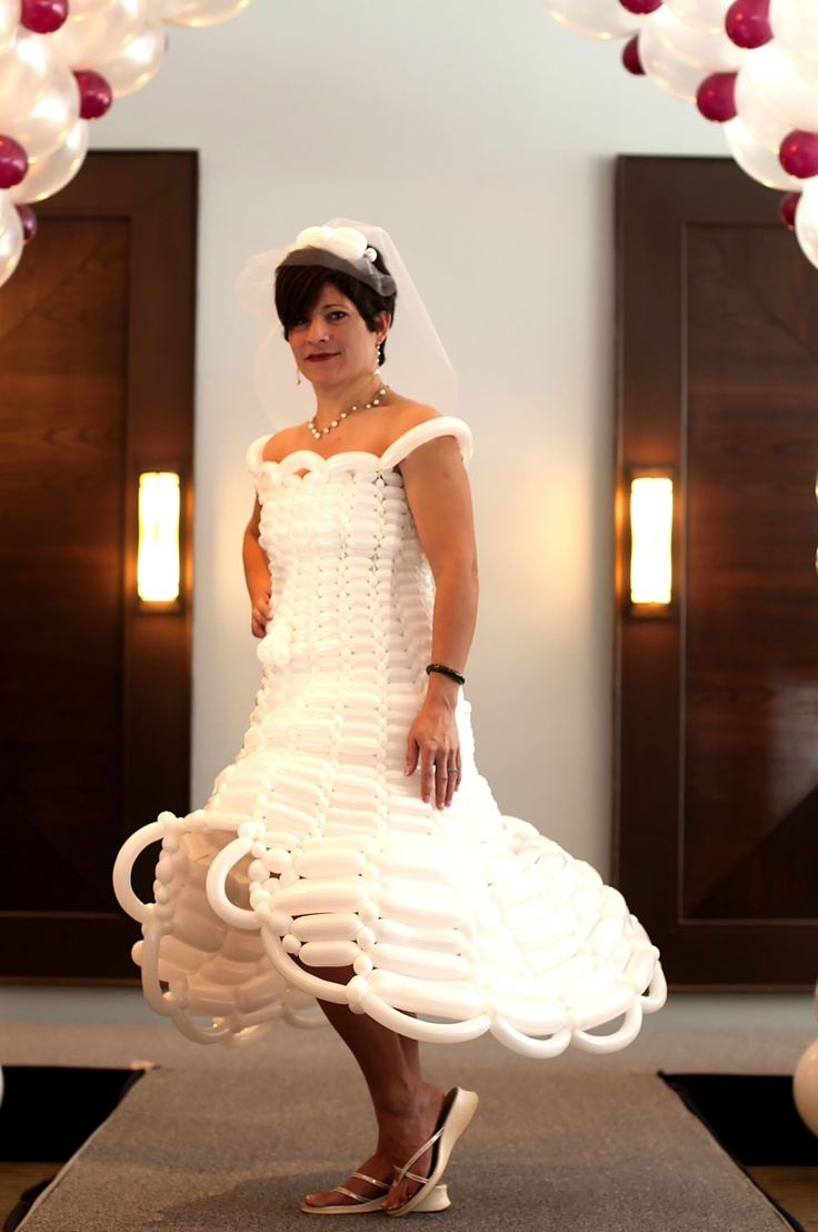 A wedding dress for a bridal show in Collingwood, Ontario.