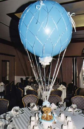 Baby Boy Bris (Brit Milah) Centerpieces & Decorations {Balloon Bouquets of LI} - mazelmoments.com