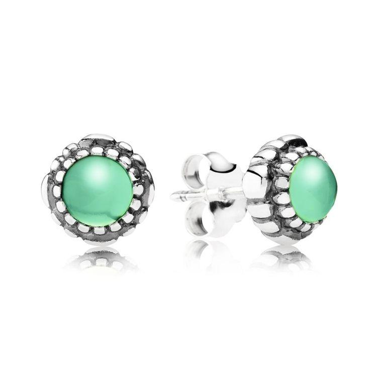 May Birthstone Stud Earrings - Pandora UK   PANDORA eSTORE