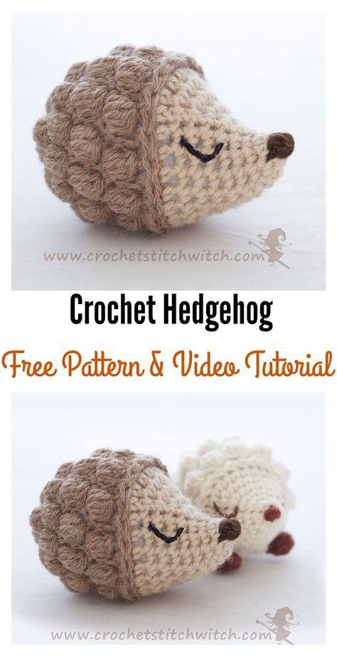 Crochet Hedgehog Amigurumi Free Patterns