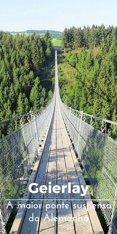 Geierlay, a maior ponte suspensa da Alemanha. Visitar a maior ponte suspensa da Alemanha, Geierlay em Mörsdorf.