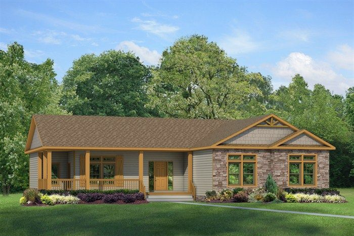 The greystone 43603a clayton for the home building for Manufactured home plans with garage