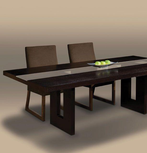Creative Elegance: Zen Dining Table Www.schoenfeldinteriors.com