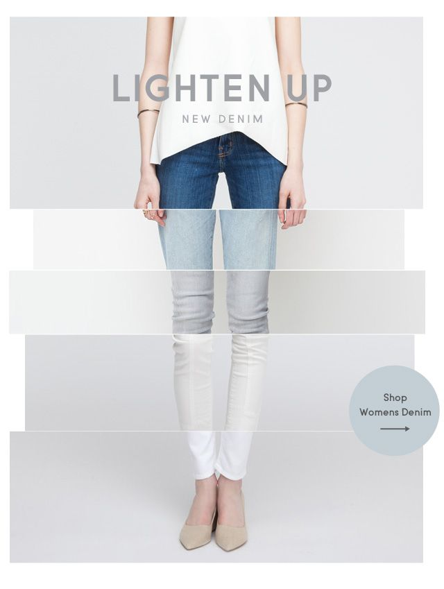 """Lighten Up"" - interesting concept for email campaign. #designinspiration #emailmarketing"