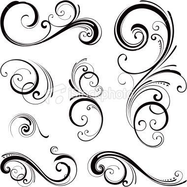 Vine tattoo flourish scrolls tattoo pinterest vine for Swirl tattoo designs