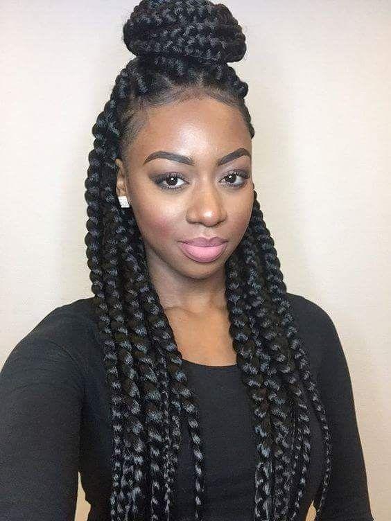 Sensational 1000 Ideas About Jumbo Box Braids On Pinterest Box Braids Hairstyles For Women Draintrainus