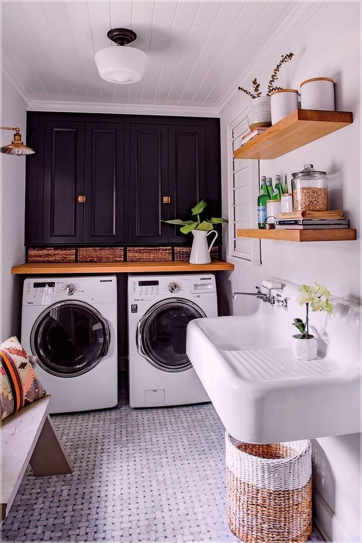 32 Perfect And Efficient Furnishing Ideas For Small Laundry Rooms Blog Home Accessories Accesso In 2020 Laundry Room Layouts Dream Laundry Room Laundry Room Makeover