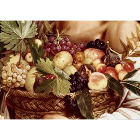 Boy With Basket Of Fruit - Detail C1607 Michelangelo Merisi da Caravaggio (1571-1610 Italian) Oil On Canvas Galleria Borghese Rome Italy Canvas Art - Michelangelo Merisi da Caravaggio (18 x 24)