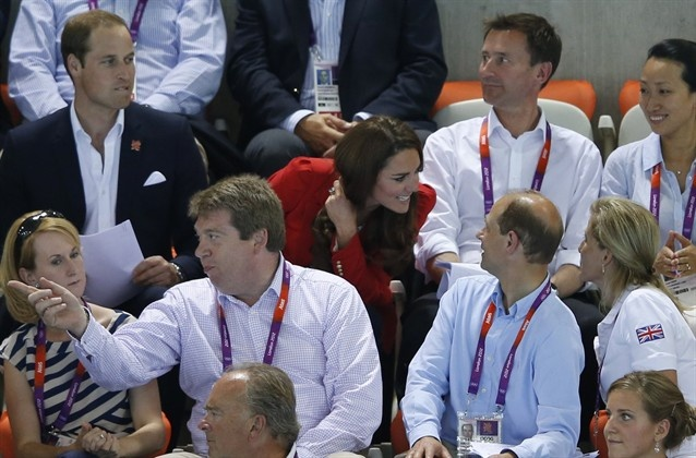 Royal Watch: William And Kate Watch Olympic Swimming - Swimming Slideshows   NBC Olympics