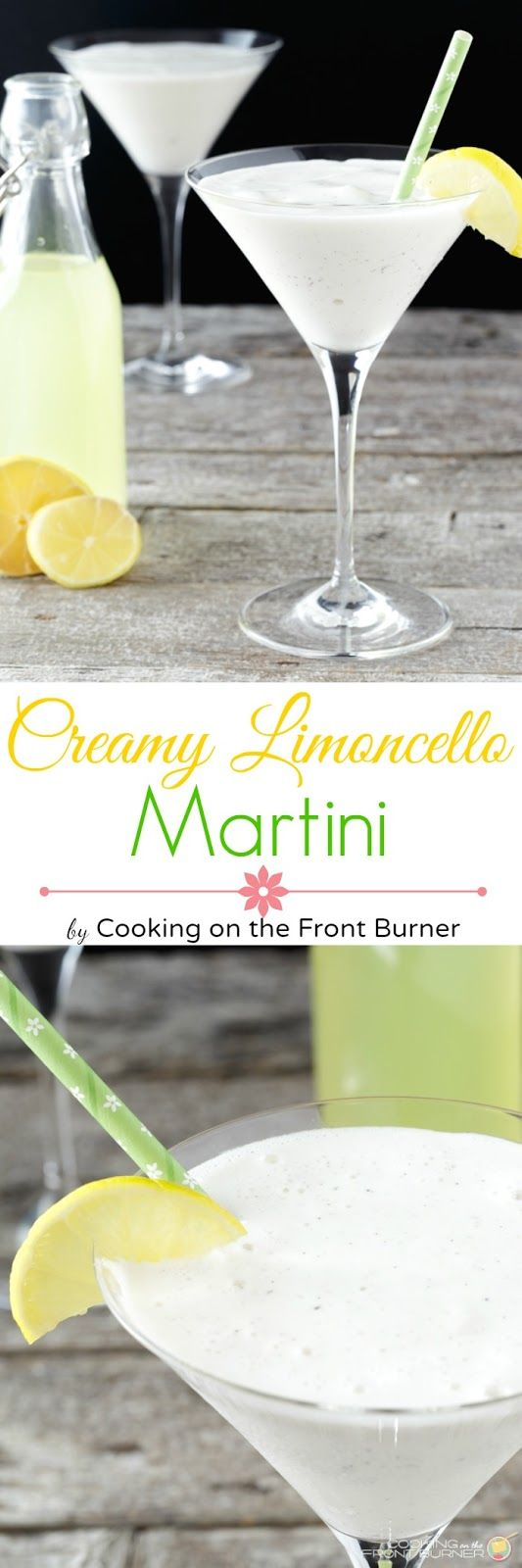 This creamy limoncello martini recipe is a cool and refreshing drink to remind you of summer!  Perfect for an after dinner drink!