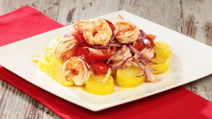 #insalata di #gamberoni e #patate all'aneto - #shrimp #salad with #dill #potatoes #mareeluna