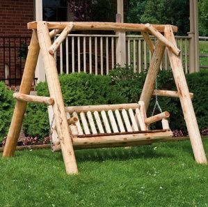 Solid Wood Amish Made Cedar Grove A-Frame Family Swing