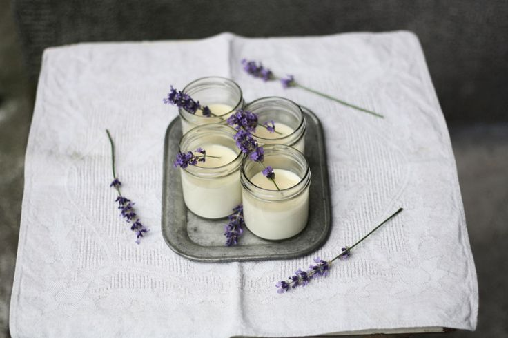 Recept natuhle zvláštnost mi poradit kuchař vBistru Franz, ajakmile jsem nazahradě naší tetičky objevila kvetoucí levandulový keř, osud této panna cotty bylzpečetěn.