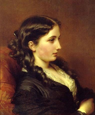Franz Xavier Winterhalter, Study of a Girl in Profile, 1862