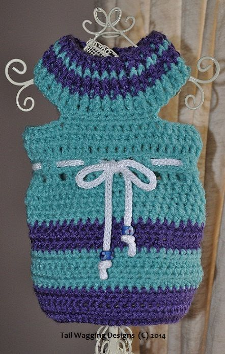 Dog Sweater Handmade Crochet Warm SOFT Teal Blue by ingridsfineart, $20.00