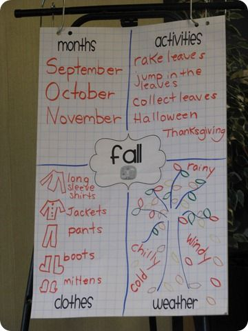 anchor chart - another way to show ideas then move into categories and help with vocab.