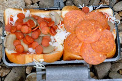 Pepperoni, mushroom & onion pizza pudgy pie