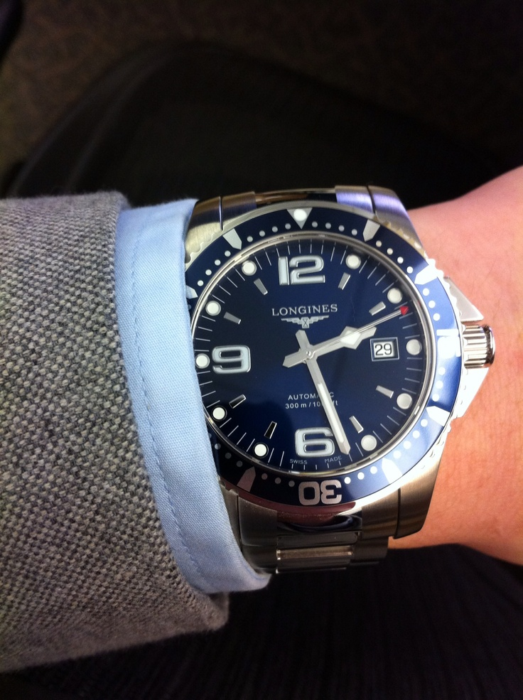 Longines Hydroconquest Automatic >> Longines Hydroconquest. Perfect blue. | Gents 101 | Pinterest | Blue