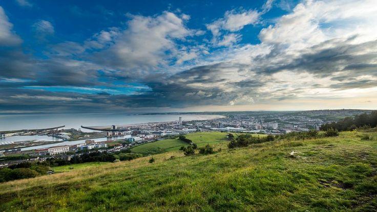 Swansea Bay, Wales from Kilvey Hill