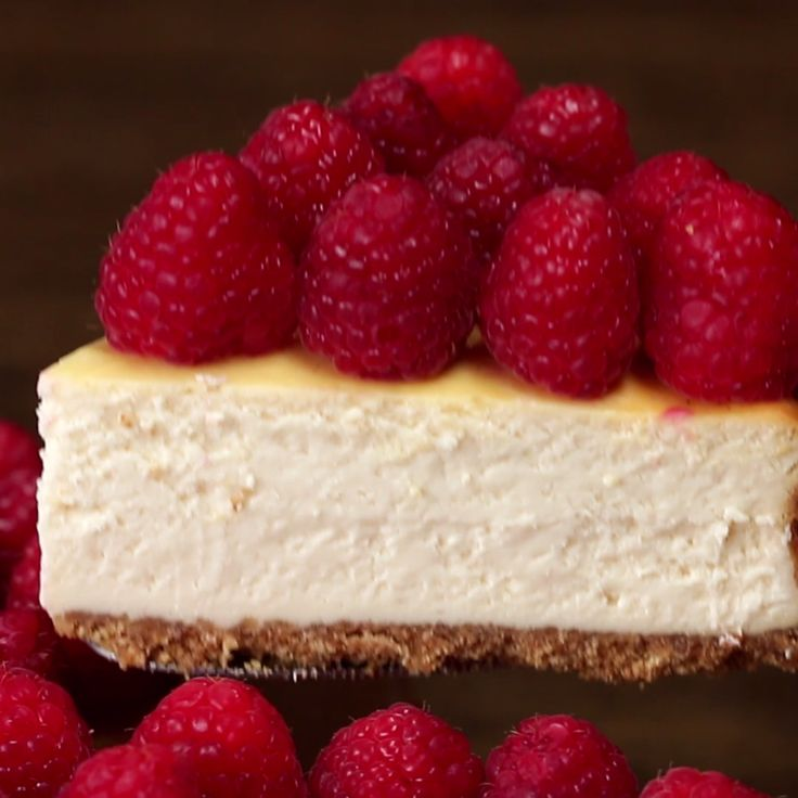 Lighter Raspberry Cheesecake