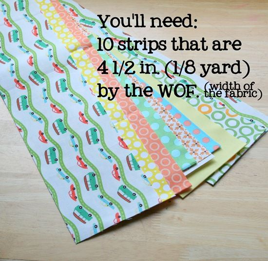 This is a fun, fast quilt to make and a GREAT quilt for a beginner. You only need to buy 10 different 1/8 yard strips and the cutting and sewing is easy since there are no matching seams or …